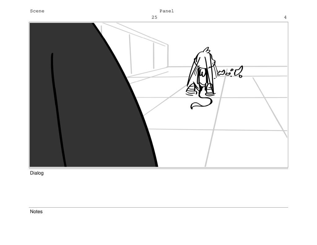 Scene 25 Panel 4 Dialog Notes