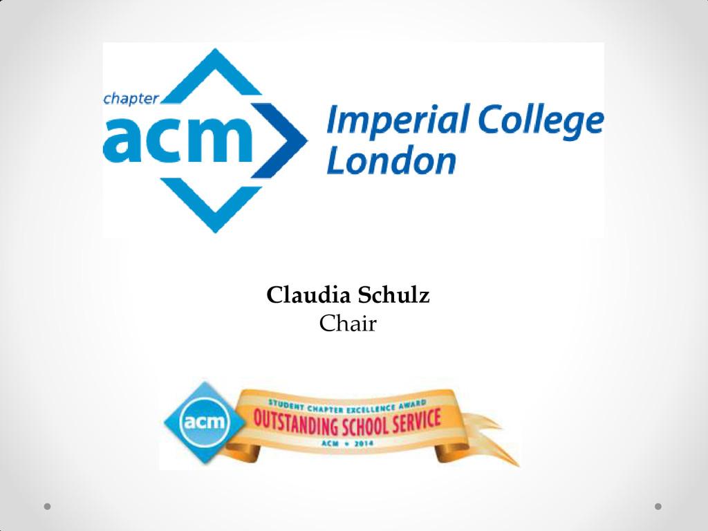 Claudia Schulz Chair