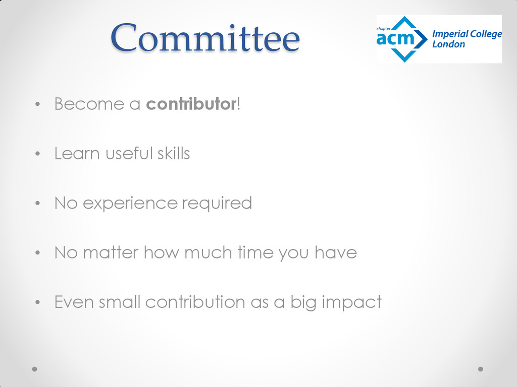 Committee • Become a contributor! • Learn usefu...