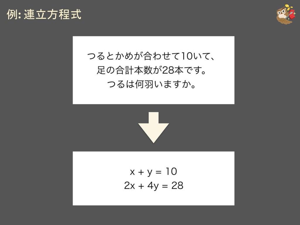 例: 連立方程式