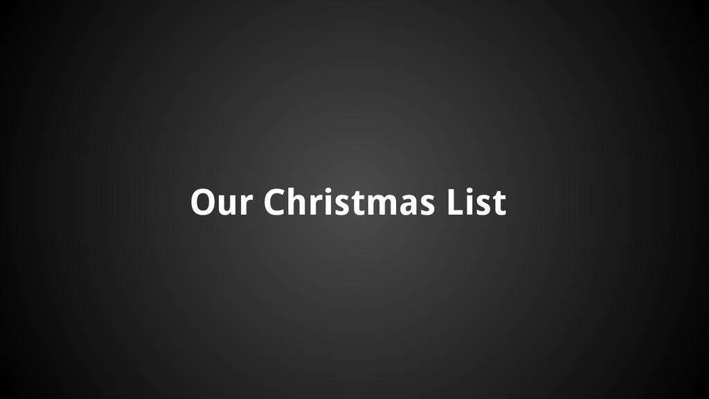 Our Christmas List