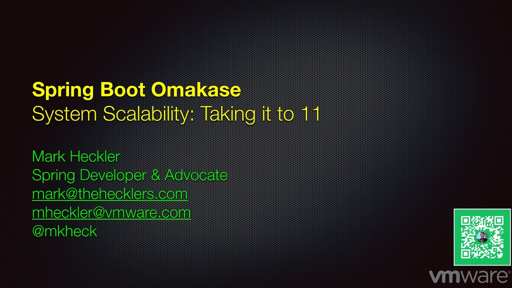 Spring Boot Omakase System Scalability: Taking ...