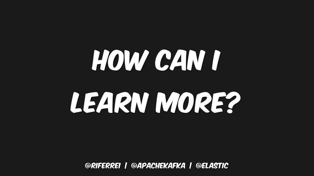 @riferrei   @apachekafka   @elastic how can I l...