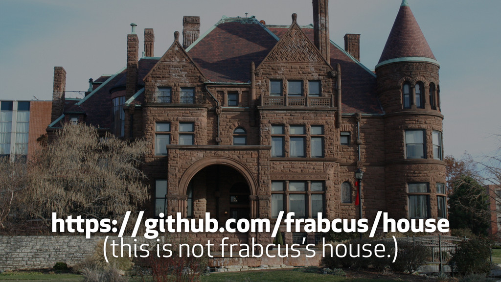 https://github.com/frabcus/house (this is not f...