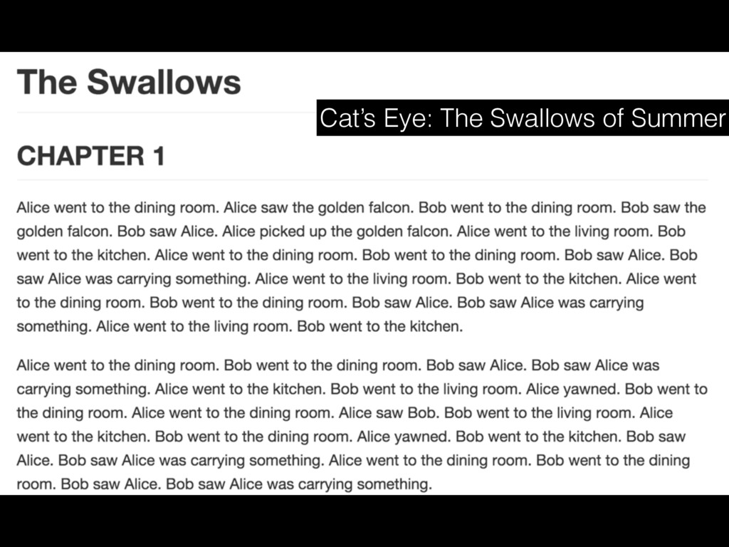 Cat's Eye: The Swallows of Summer