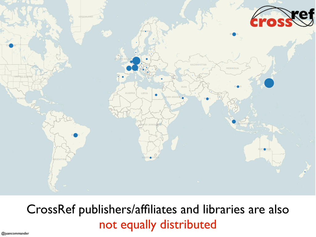 CrossRef publishers/affiliates and libraries are...