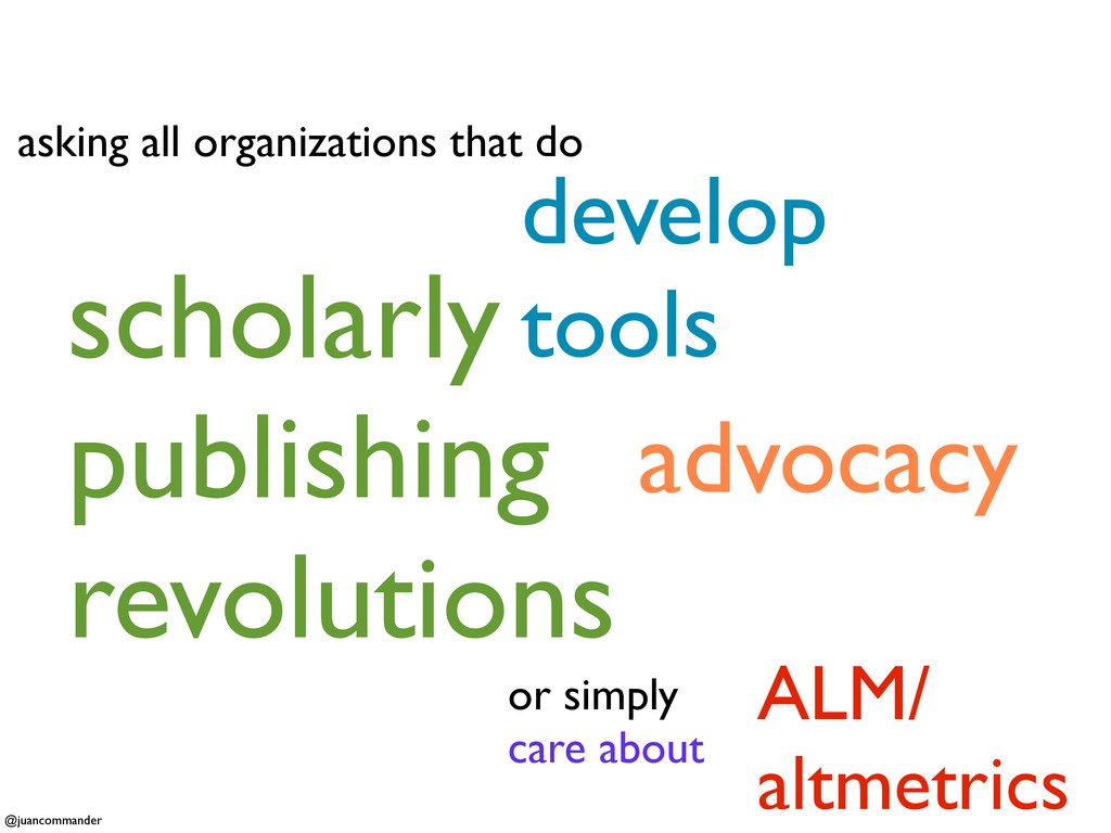 asking all organizations that do advocacy devel...