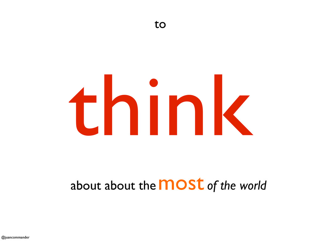 to think about about the of the world most @jua...