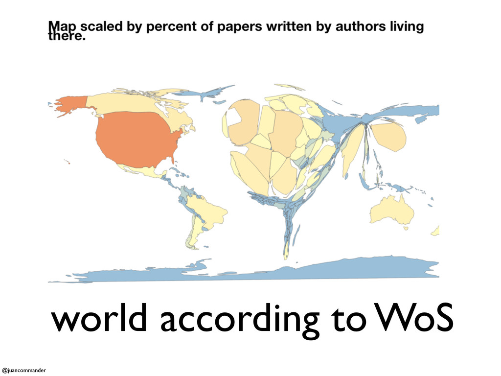 world according to WoS @juancommander