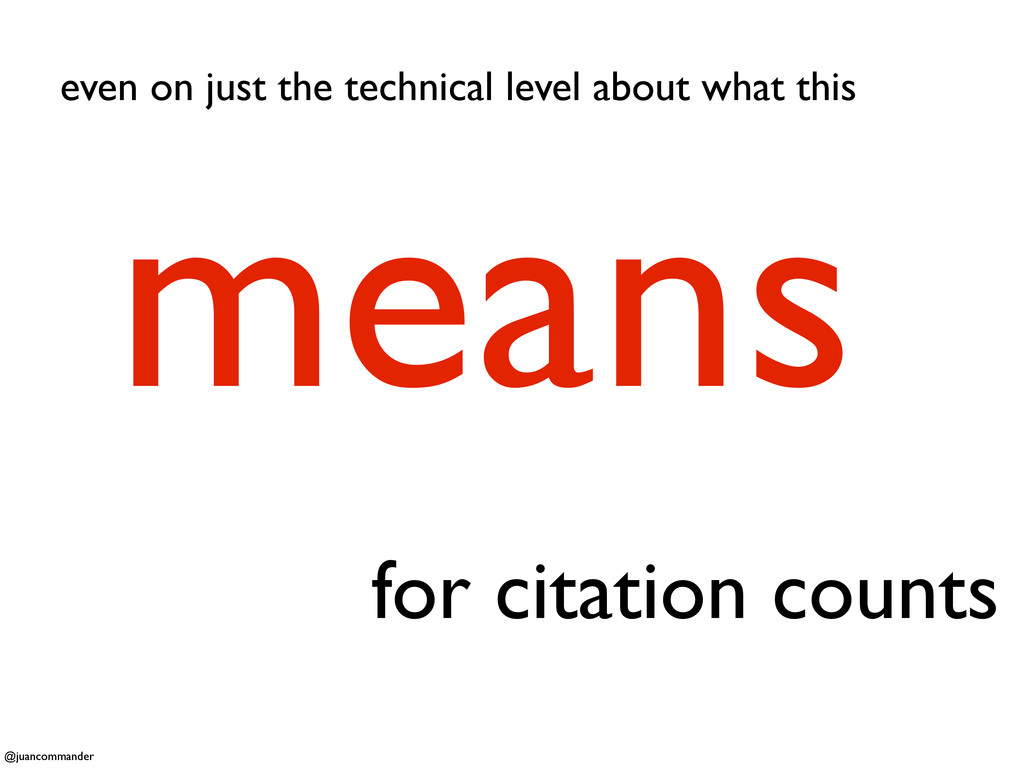 for citation counts means even on just the tech...