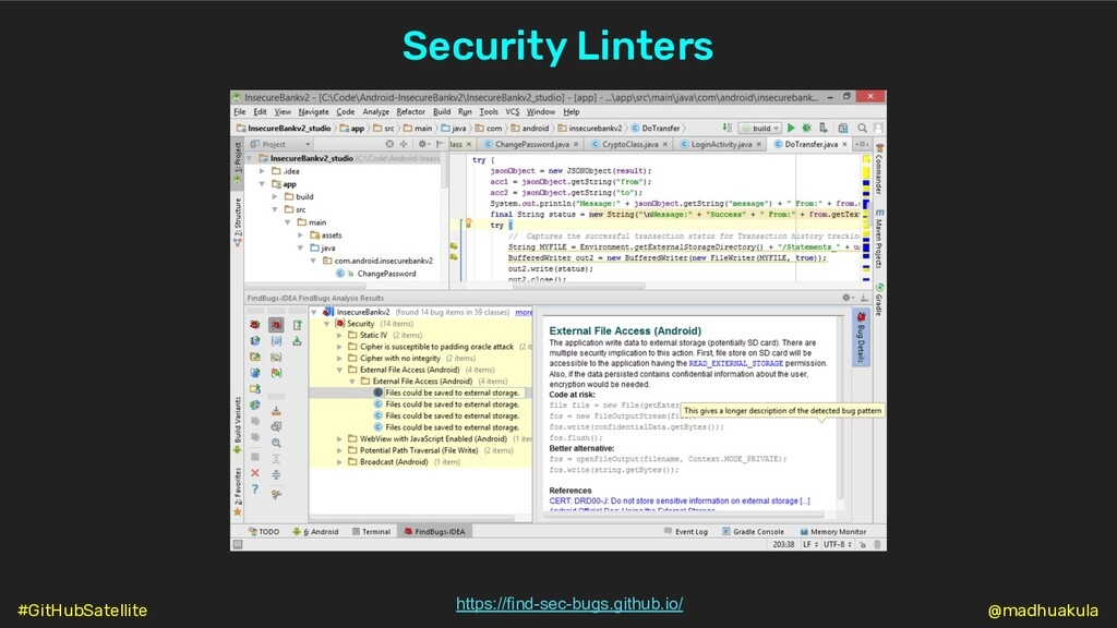 Security Linters https://find-sec-bugs.github.i...