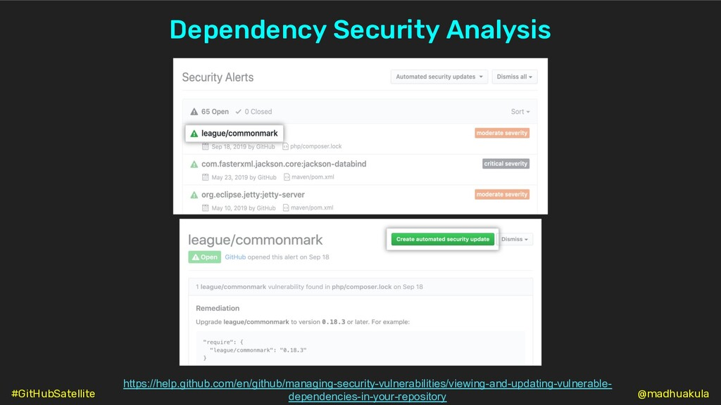 Dependency Security Analysis https://help.githu...