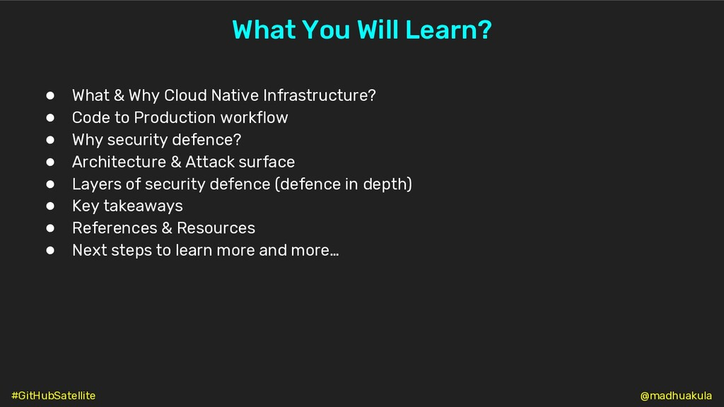 ● What & Why Cloud Native Infrastructure? ● Cod...