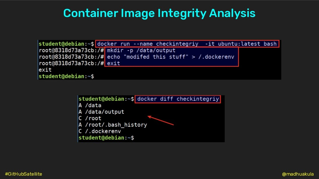 Container Image Integrity Analysis @madhuakula ...