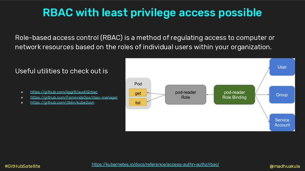 RBAC with least privilege access possible https...