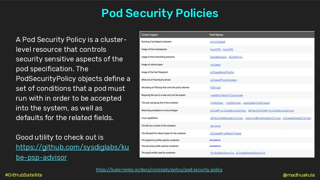 Pod Security Policies A Pod Security Policy is ...