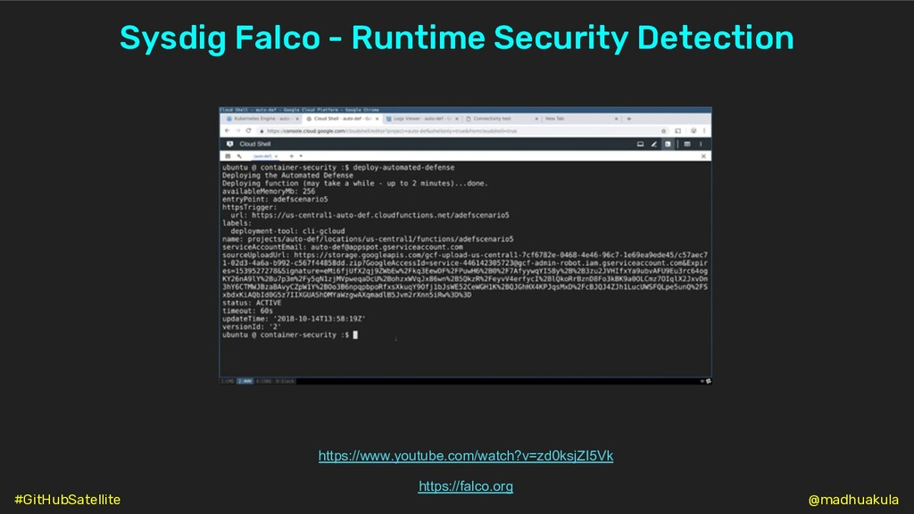 Sysdig Falco - Runtime Security Detection https...