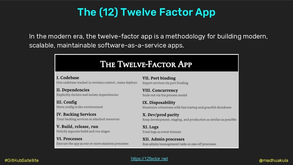 The (12) Twelve Factor App In the modern era, t...