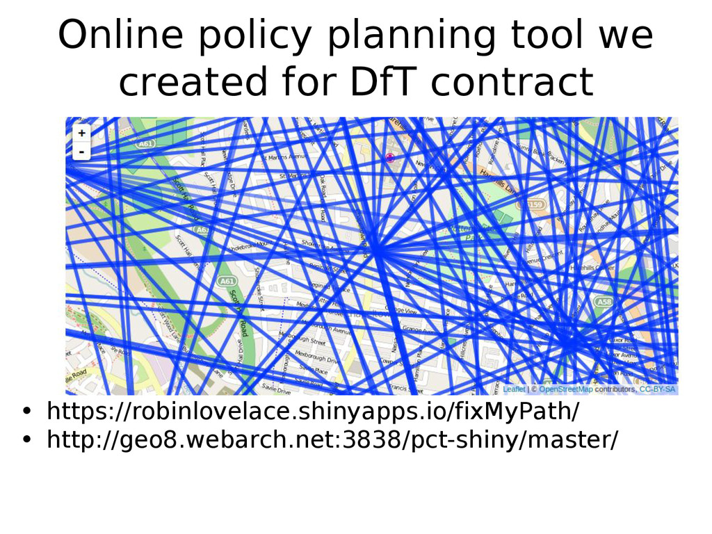 Online policy planning tool we created for DfT ...