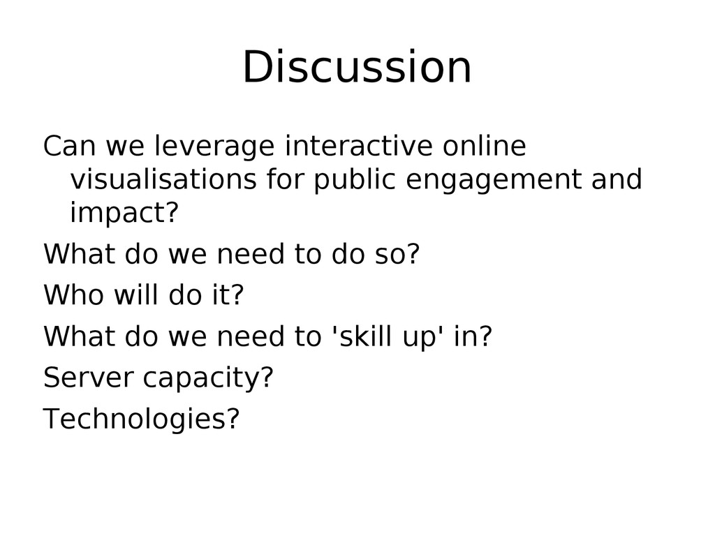 Discussion Can we leverage interactive online v...