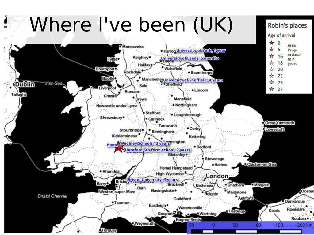 Where I've been (UK)