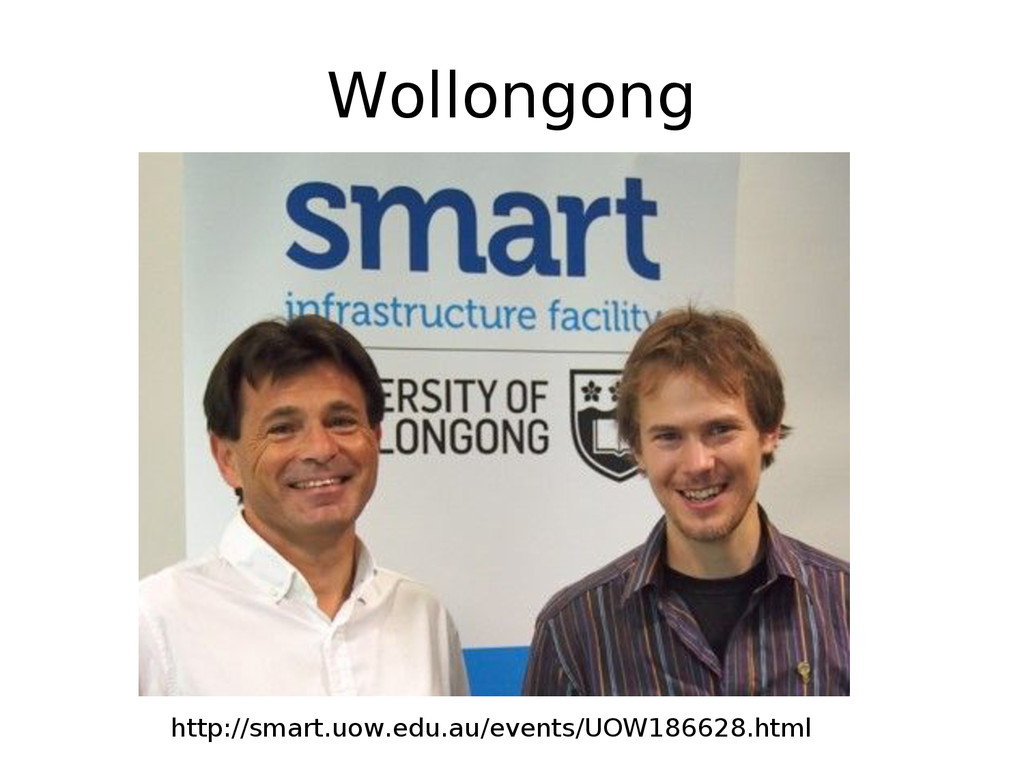 Wollongong http://smart.uow.edu.au/events/UOW18...