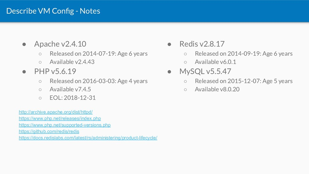 ● Apache v2.4.10 ○ Released on 2014-07-19: Age ...