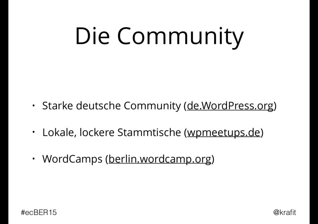 Die Community • Starke deutsche Community (de.W...