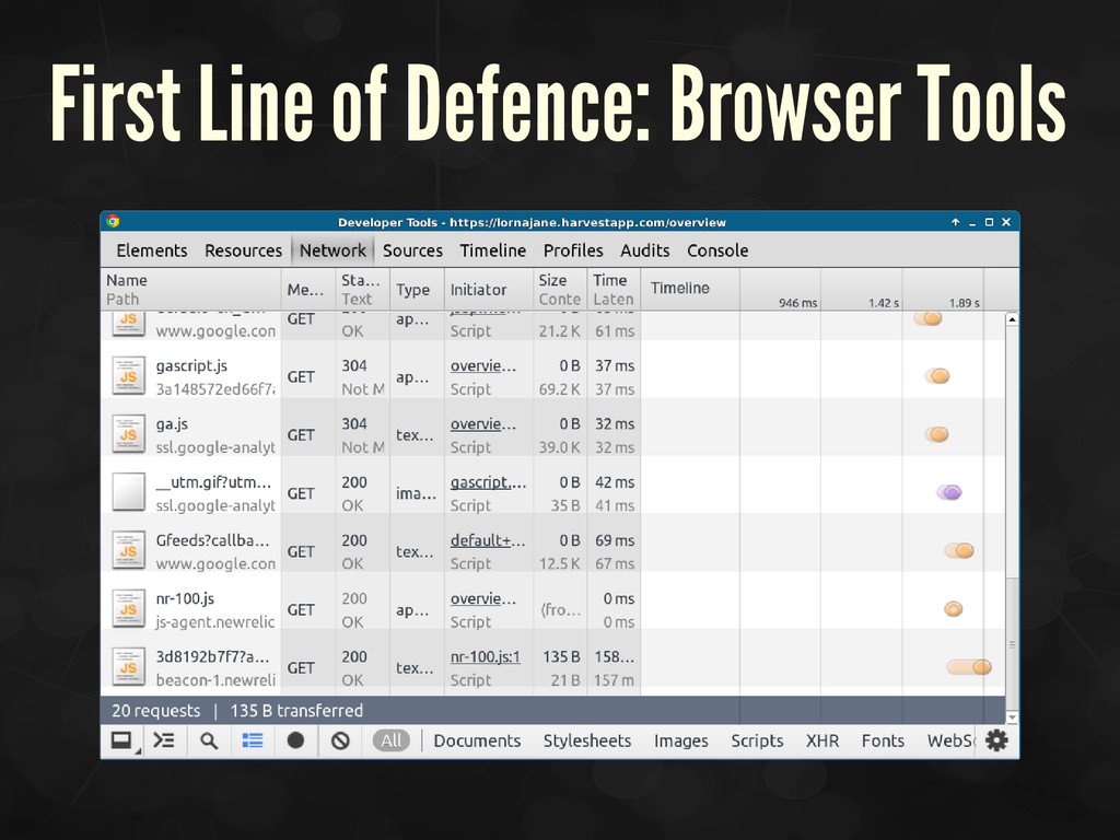 First Line of Defence: Browser Tools
