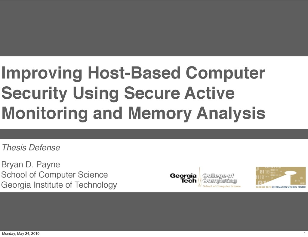 Improving Host-Based Computer Security Using Se...