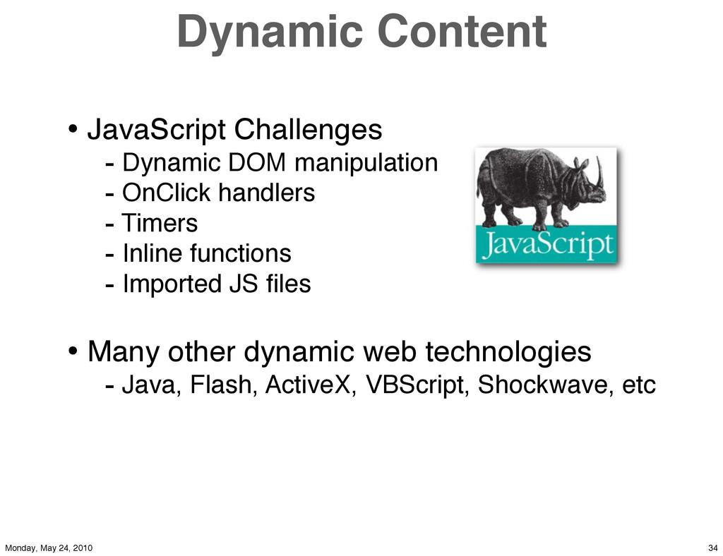 Dynamic Content • JavaScript Challenges - Dynam...