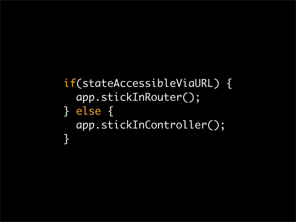 if(stateAccessibleViaURL) { app.stickInRouter()...