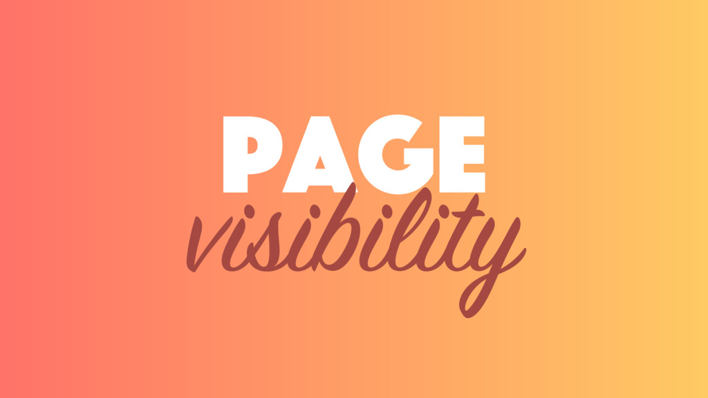 page visibility