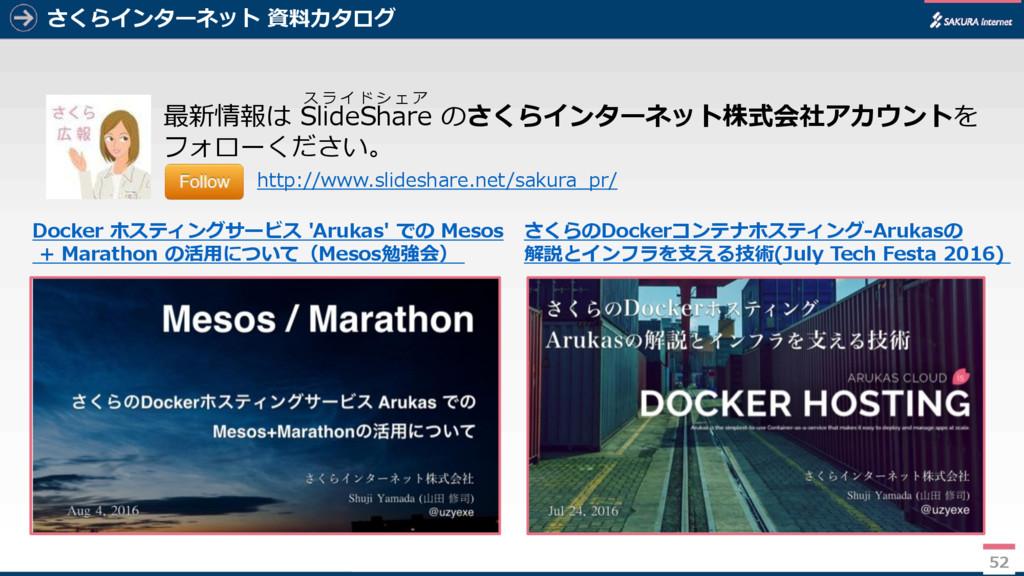 52 さくらインターネット 資料カタログ 52 最新情報は SlideShare のさくらイン...
