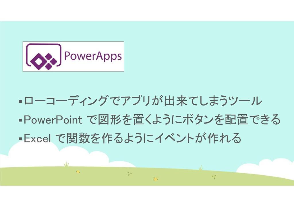 ローコーディングでアプリが出来てしまうツール PowerPoint で図形を置くようにボタ...
