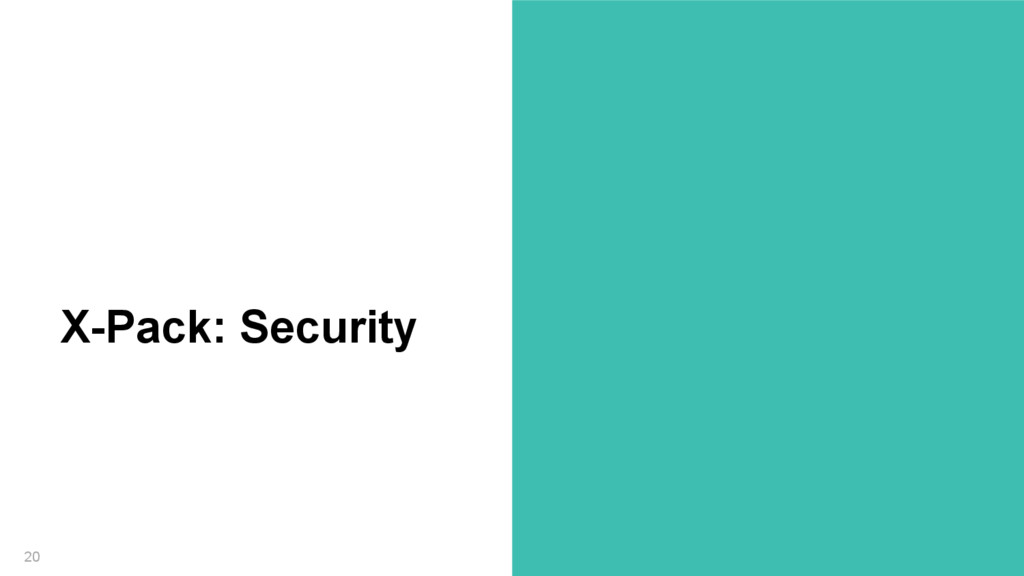 20 X-Pack: Security