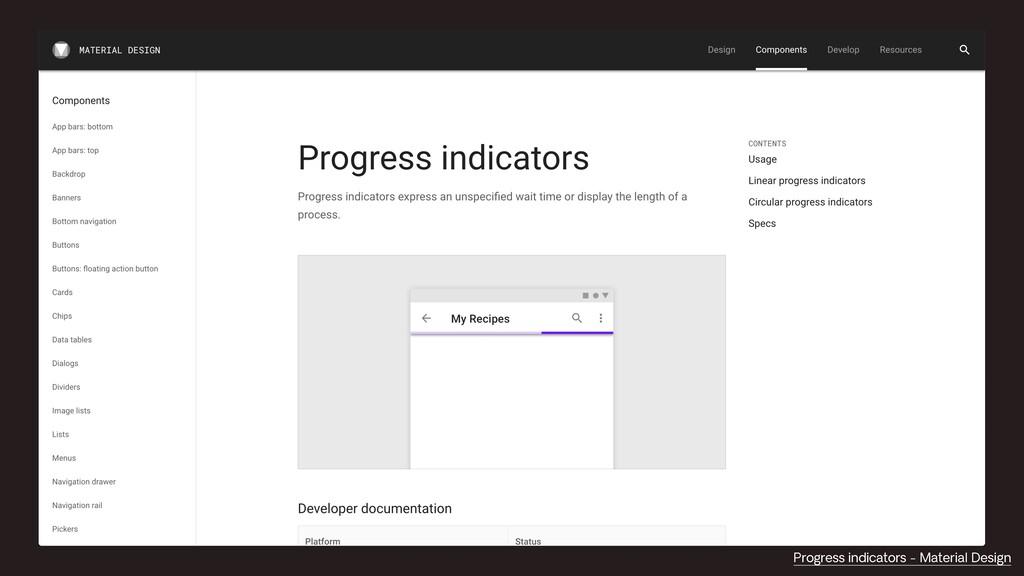 Progress indicators - Material Design