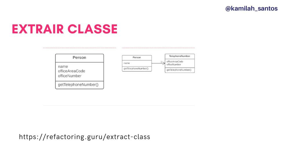 EXTRAIR CLASSE https://refactoring.guru/extract...