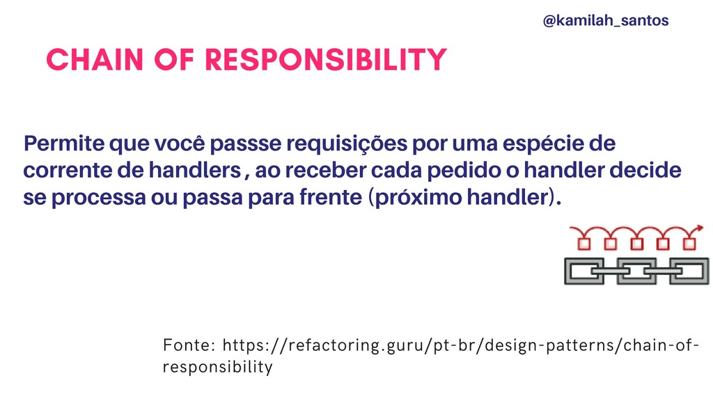 CHAIN OF RESPONSIBILITY Permite que você passse...