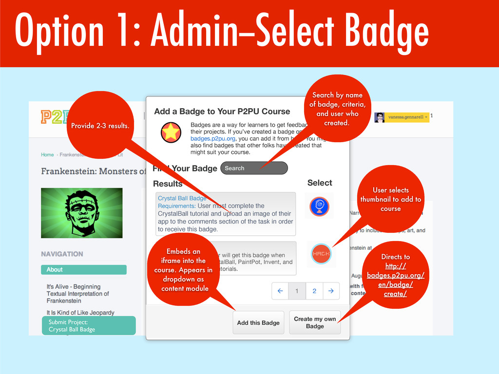 Option 1: Admin--Select Badge Submit Project: C...