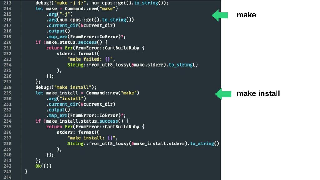 make ⬅︎ make install ⬅︎