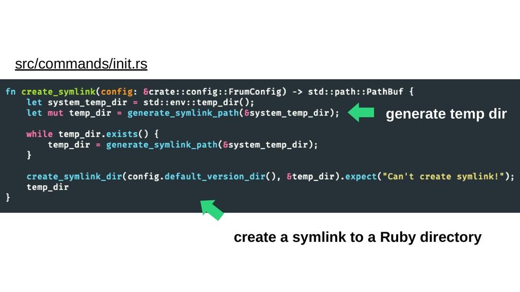 ⬅︎ generate temp dir src/commands/init.rs ⬅︎ cr...