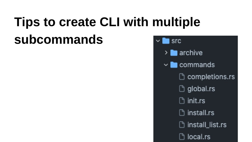 Tips to create CLI with multiple subcommands