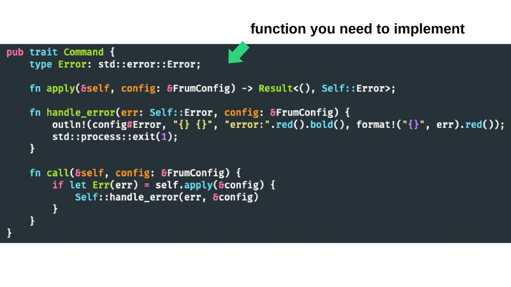 ⬅︎ function you need to implement