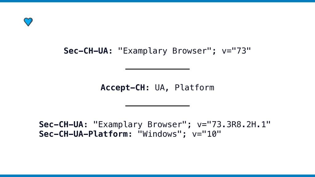 """Sec-CH-UA: """"Examplary Browser""""; v=""""73"""" Accept-C..."""