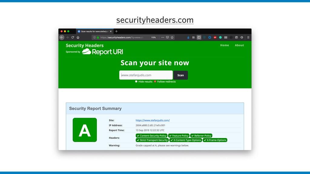 securityheaders.com