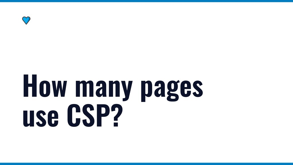 How many pages use CSP?