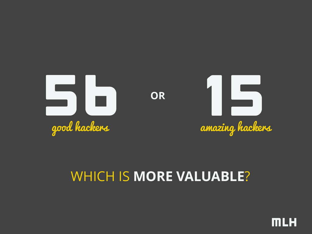 WHICH IS MORE VALUABLE? 56 15 good hackers amaz...
