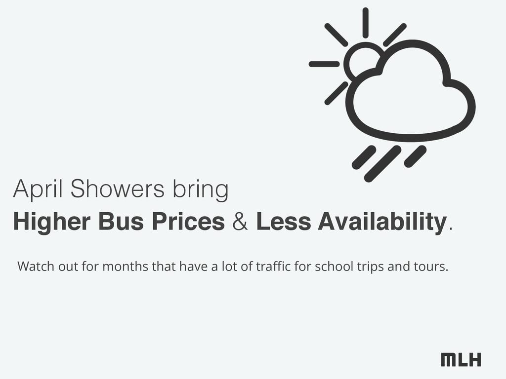 April Showers bring Higher Bus Prices & Less Av...