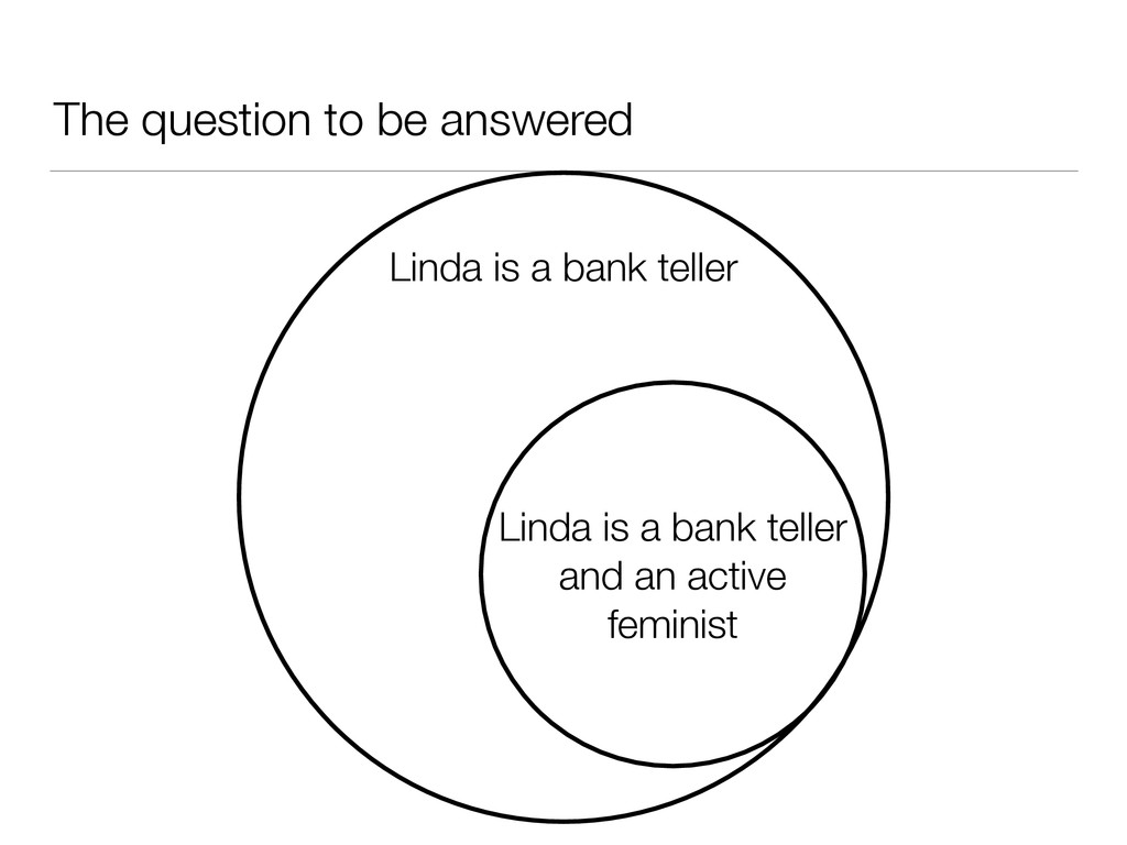 The question to be answered Linda is a bank tel...